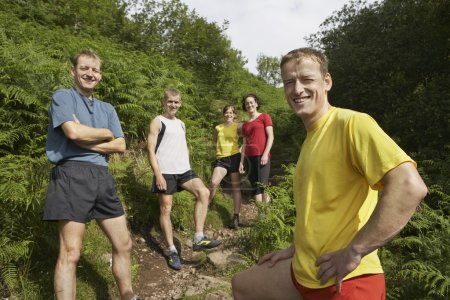 Joggers on Trail