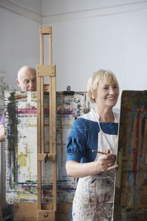 senior artists in studio