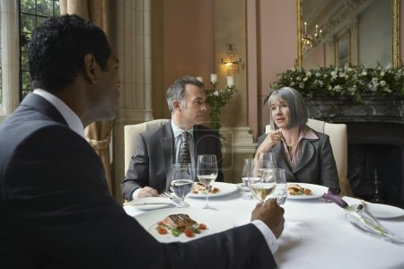 Business people at restaurant