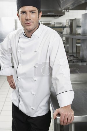 Chef with hand on hip