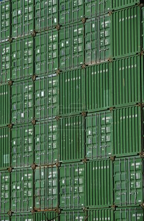 Shipping containers in storage yard