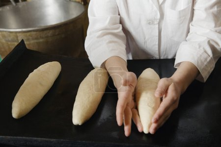Baker with  Bread Dough