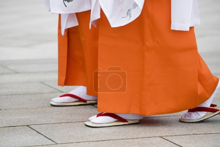 Japanese Women walking in Traditional Dresses