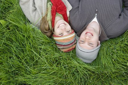 Couple Relaxing in the Grass