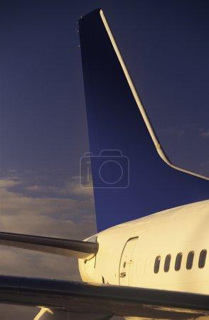 Passenger jet tailplane