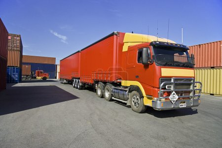 Truck and cargo containers