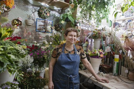 female Florist in shop