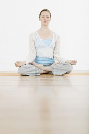 Girl performing yoga
