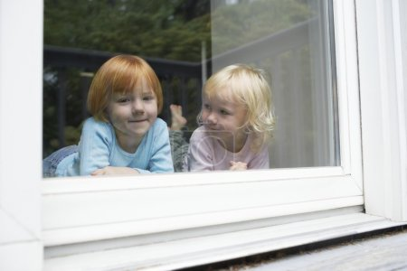 little Sisters in window