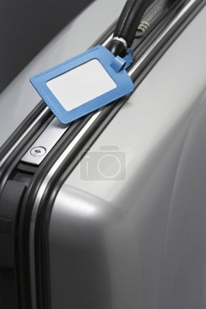 Suitcase with blank tag