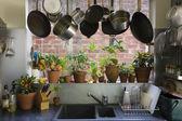 Domácí kuchyně interiér