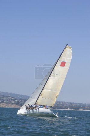 yachts sur l'événement de voile