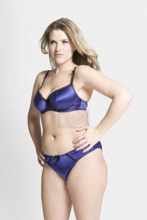 woman in her underwear standing