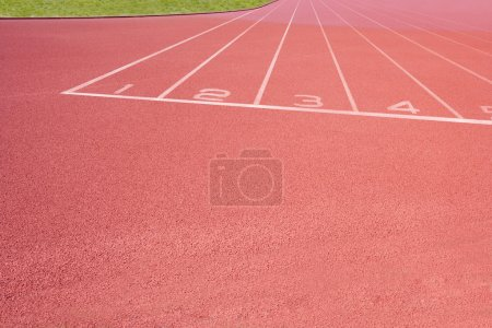 Photo for Close-up of Athletics track - Royalty Free Image