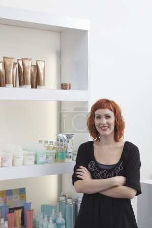 Owner receptionist of hair salon