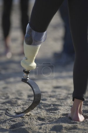 Photo for Person with prosthetic leg - Royalty Free Image