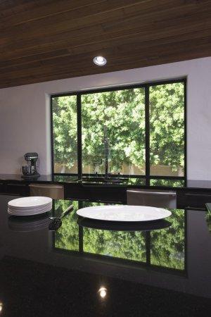 Black gloss kitchen worktop