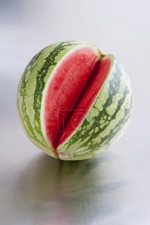 Watermelon with cut piece