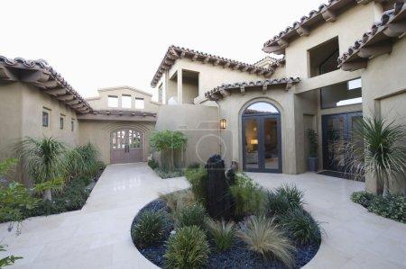 Cactus garden and courtyard
