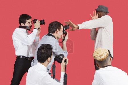 célébrité blindage visage de photographes