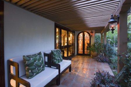 Photo pour Design d'intérieur de luxe, porche - image libre de droit