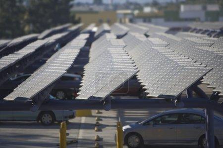 Foto de Arreglo fotovoltaico en Los Ángeles, California - Imagen libre de derechos