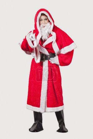 Woman in Santa costume