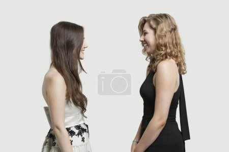 Friends looking at each other