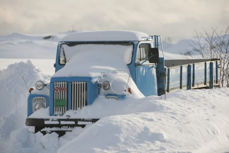 Truck is snowed