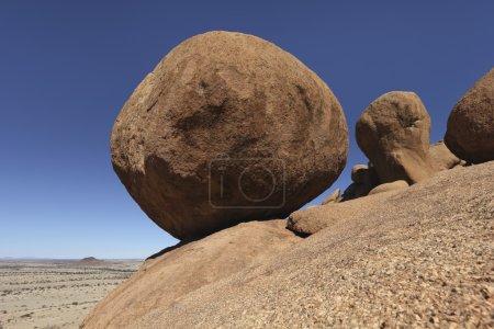 Photo pour Spitzkoppe Granite Marbres en Namibie, Angola - image libre de droit