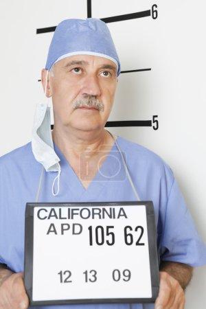 Photo for Mug shot of senior male surgeon - Royalty Free Image