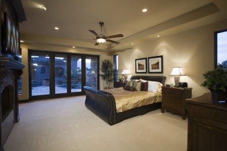 Wood furniture in bedroom
