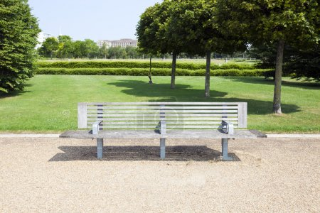 Photo for Wooden bench in London Park - Royalty Free Image