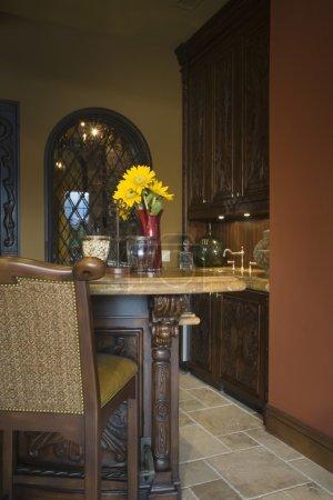 Bar stool in kitchen
