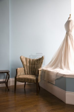 Mannequin with wedding dress