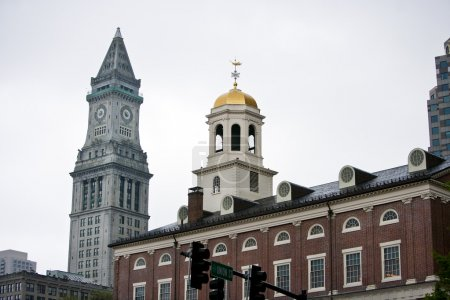 Faneuil Hall with Custom House Tower