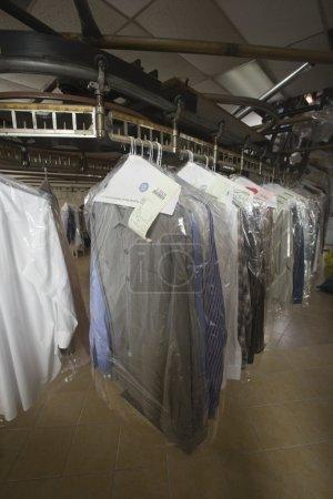 Clothes in laundrette