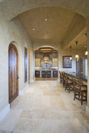 Tiled floor of kitchen
