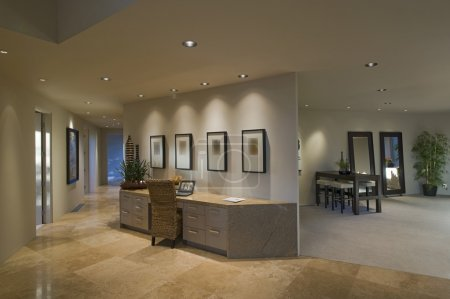 Partition desk in luxury home
