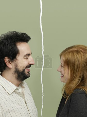 Couple facing relationship difficulties