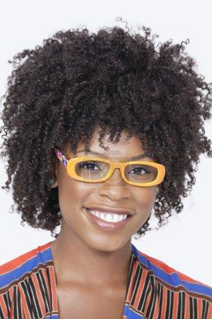 African American woman wearing glasse