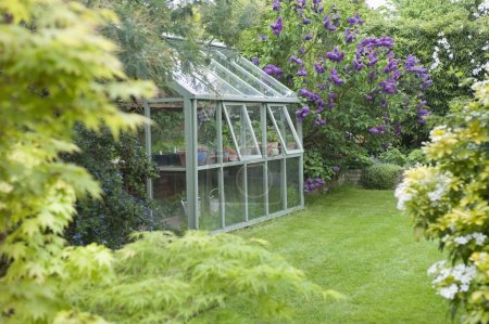 Greenhouse with open windows