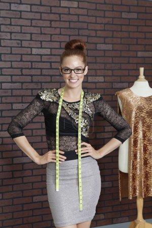 Beautiful female fashion designer