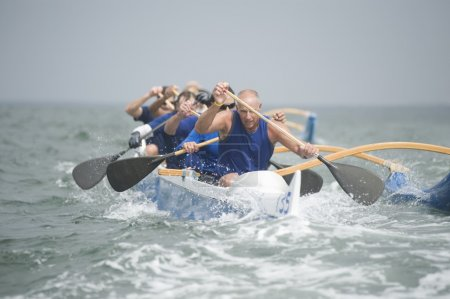 Outrigger canoeing team
