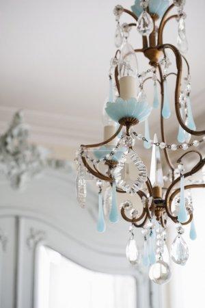 metal-worked chandelier