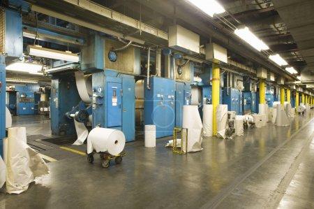 Innenraum der Zeitungsfabrik
