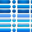 Set of blank blue buttons for website or app. Vect...