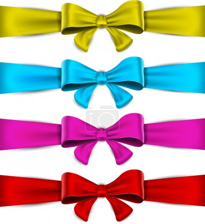 Illustration for Realistic bow collection. Vector eps10. - Royalty Free Image