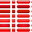 Set of blank red buttons for website or app. Vecto...
