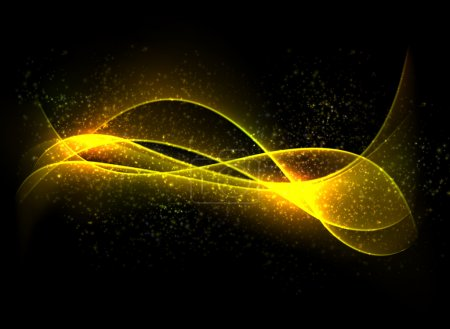 Illustration for Vector abstract dark background. Blurry smooth glowing waves. Eps10. - Royalty Free Image